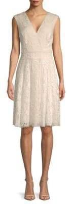Tadashi Shoji Embroidered Lace Knee-Length Dress