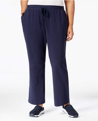 Karen Scott Plus Size Drawstring Waist Soft Pants