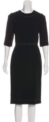 Dolce & Gabbana Three-Quarter Sleeve Midi Dress w/ Tags