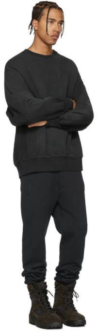 YEEZY Black Boxy Crewneck Sweatshirt 3