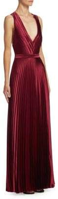 Zac Posen Pleated Floor-Length Gown