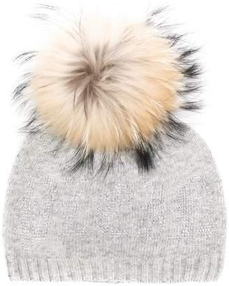 Philipp Plein raccoon fur pompom beanie