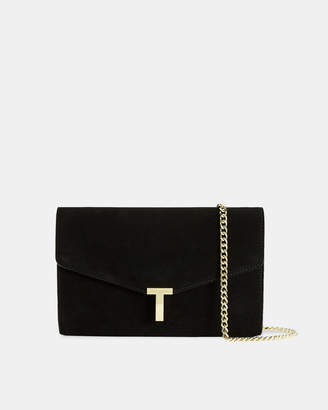 Ted Baker JAKIEE T branded leather evening bag