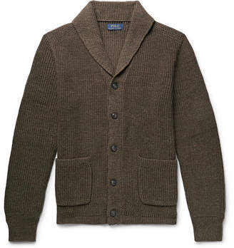 Polo Ralph Lauren Shawl-Collar Ribbed Mélange Cotton Cardigan