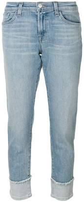 J Brand cropped straight-leg jeans