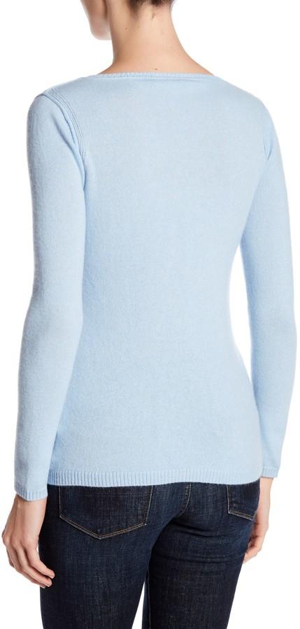 In Cashmere Cashmere Open-Stitch Pullover Sweater 9