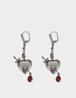 Alexander McQueen Metal Heart earrings