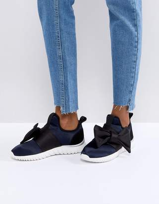 Miss KG Satin Bow Sneakers