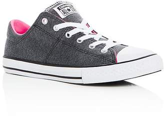 Converse Girls' Chuck Taylor All Star Madison Jersey Lace Up Sneakers - Toddler, Little Kid, Big Kid