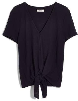 Madewell Texture & Thread V-Neck Modern Tie-Front Top