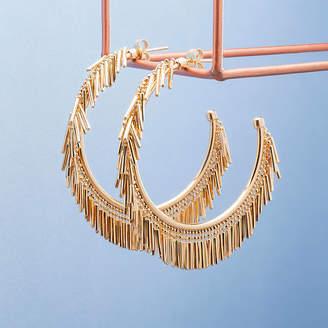 7f5396a73 Loel & Co. Gold And Silver Tassel Fringe Hoop Earrings