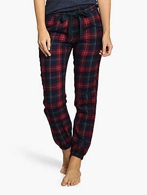 Fat Face Perth Check Pyjama Bottoms, Red/Blue