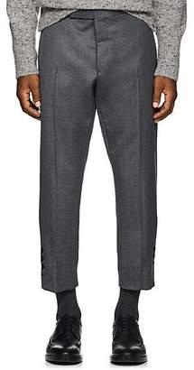 Thom Browne Men's Wool Slim Crop Trousers - Gray