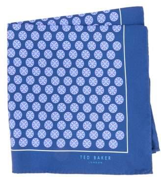 Ted Baker Wheel Medallion Silk Pocket Square