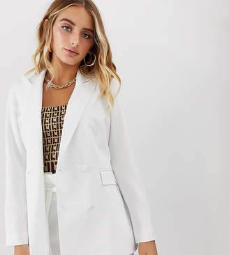 Missguided co-ord tailored blazer in white