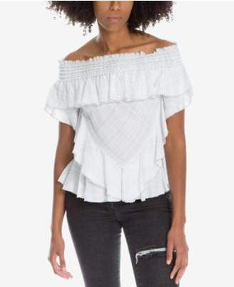 Max Studio London Ruffled Off-The-Shoulder Top, Created for Macy's