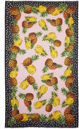 Dolce & Gabbana Pink Pineapple Scarf $395 thestylecure.com