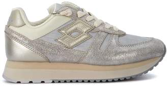 Lotto Leggenda Tokyo Silver Leather And Fabric Sneaker