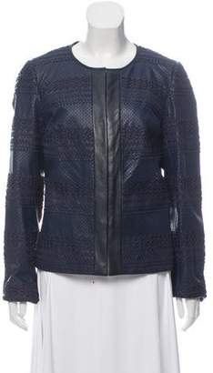 Tory Burch Leather Collarless Jacket