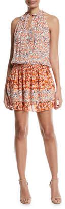 Ramy Brook Mackinley Sleeveless Floral-Print Silk Dress