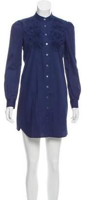 Tibi Long Sleeve Mini Shirtdress