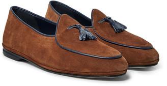 Rubinacci - Marphy Suede Tasselled Loafers - Men - Brown