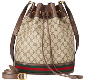 Gucci Ophidia GG Supreme Canvas Drawstring Bucket Bag