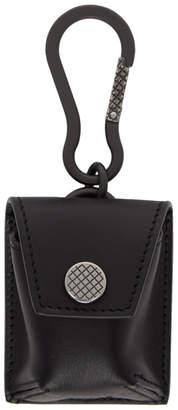Bottega Veneta Black Wireless Earbud Case Keychain