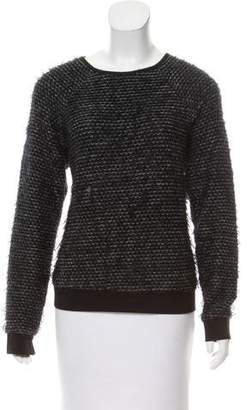 Tibi Textured Long Sleeve Sweater