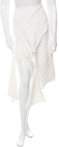 CelineCéline Asymmetrical Knee-Length Skirt w/ Tags