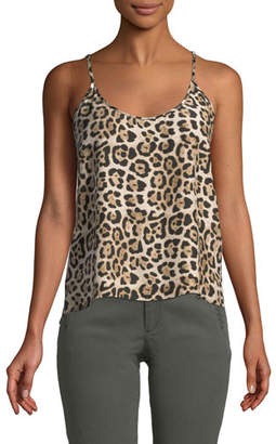 ATM Anthony Thomas Melillo Leopard-Print Silk Charmeuse Cami Top