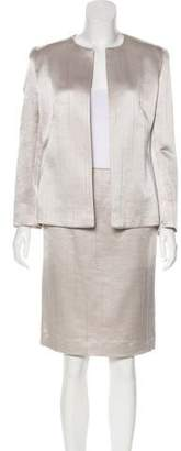 Valentino Wool Metallic Skirt Suit w/ Tags