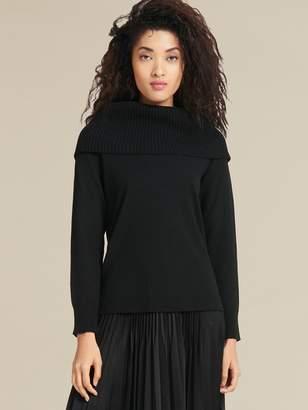 Donna Karan Donnakaran Wool Cashmere Turtleneck Black XS