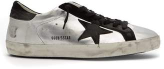 Golden Goose Deluxe Brand - Super Star Low Top Leather Trainers - Mens - Black Silver