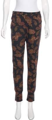 Dries Van Noten Mixed Print Skinny Pants