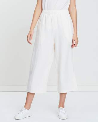 Contrast Wide Leg Pants