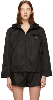 Prada Black Nylon Cropped Jacket