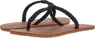 Volcom Women's Fishtail Braided T-Strap Flat Sandal
