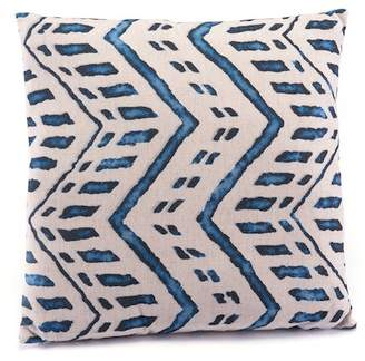 "ZUO Modern Blue/Natural Ikat Pillow - 18"" x 18\"""