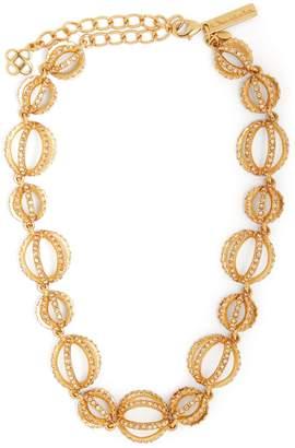 Oscar de la Renta Crystal-embellished Globe necklace