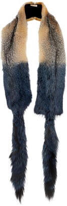 Marni Grey Fox Fur Stole