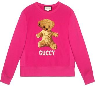 Gucci Cotton sweatshirt with teddy bear
