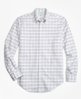 Brooks Brothers Milano Fit Oxford Multi-Check Sport Shirt