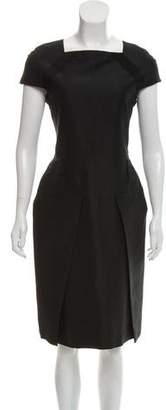 Calvin Klein Collection Pleated Silk Dress