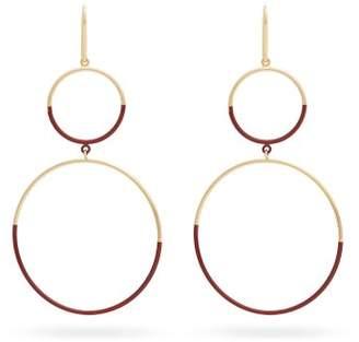 Isabel Marant Double Hoop Drop Earrings - Womens - Red