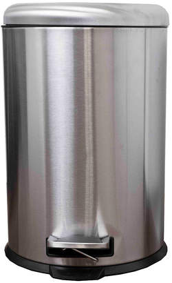 Home Basics Dome Top 20 Liter Stainless Steel Waste Bin
