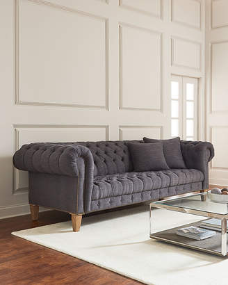 Style Of at Horchow · Capricia Tufted Chesterfield Sofa Minimalist - New fabric chesterfield sofa New
