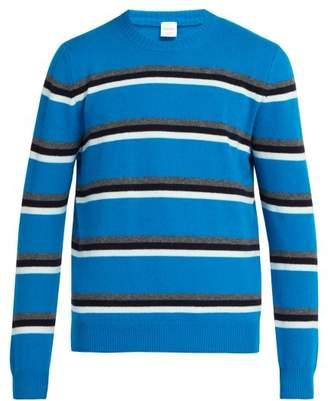 Paul Smith Stripe Crew Neck Wool Sweater - Mens - Blue Multi