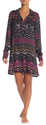 Josie Floral Woven Pajama Sleep Shirt