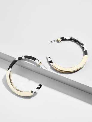 BaubleBar Tassiana Resin Hoop Earrings